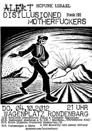 alert + disillusioned motherfuckers @rondenbarg, hamburg, 04.10.2012