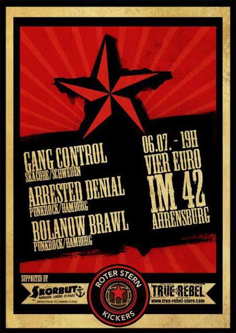 arrested denial + gang control + bolanow brawl @juki 42, ahrensburg, 06.07.2013