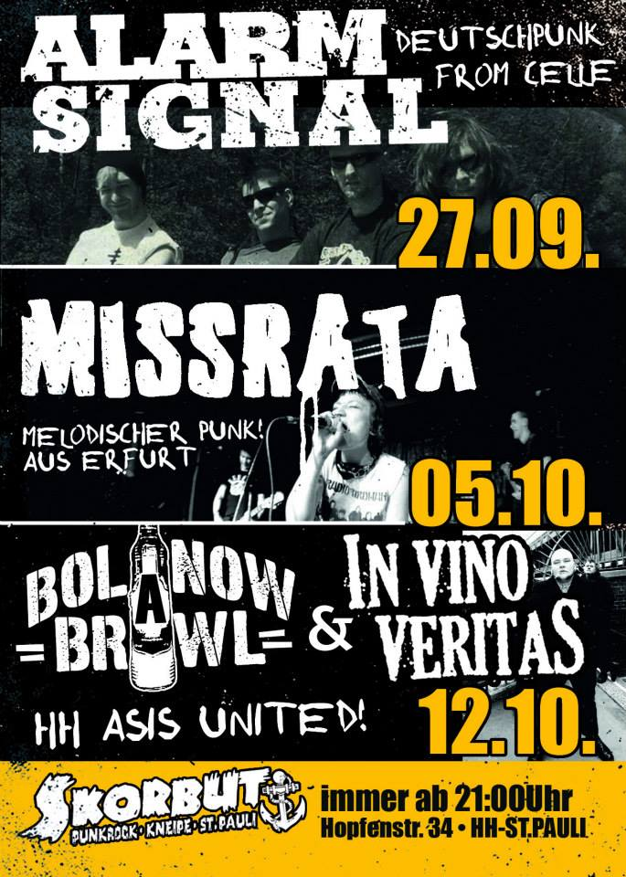 bolanow brawl + in vino veritas, 12.10.2013, skorbut, hamburg