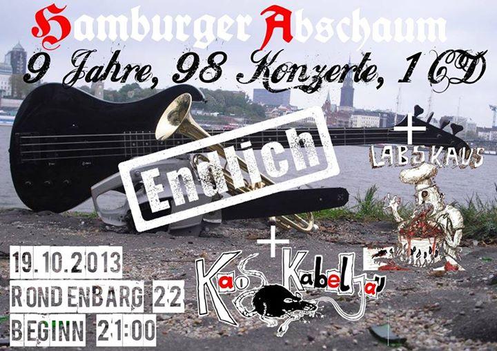 hamburger abschaum + labskaus + kaos kabeljau @rondenbarg, hamburg, 19.10.2013