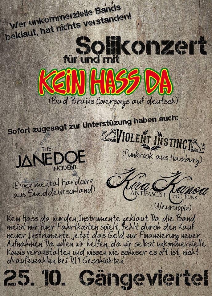 kein-hass-da-soli-konzert @gängeviertel, hamburg, 25.10.2014