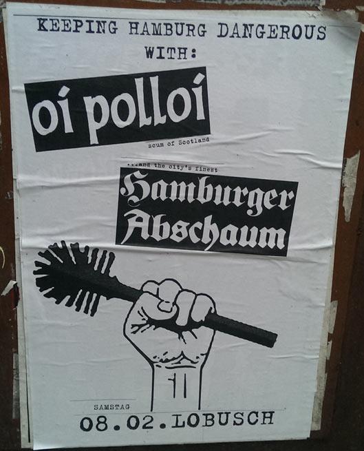 oi polloi + hamburger abschaum @lobusch, hamburg, 08.02.2014