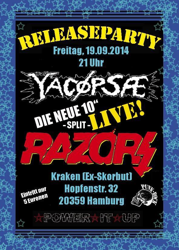 razors + yacøpsæ @kraken, hamburg, 19.09.2014