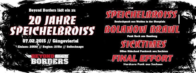 bolanow brawl + final effort + die fette boite @gängeviertel, hamburg, 07.02.2015