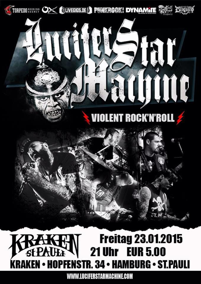 lucifer star machine @kraken, hamburg, 23.01.2015