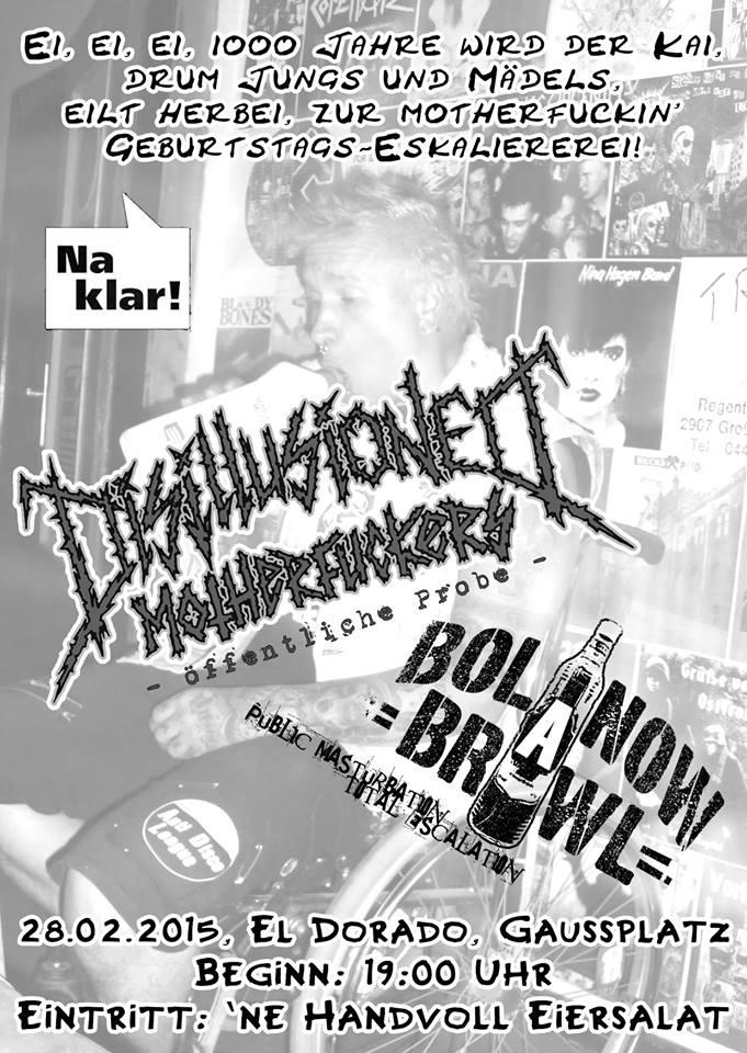 disillusioned motherfuckers + bolanow brawl @el dorado, hamburg, 28.02.2015