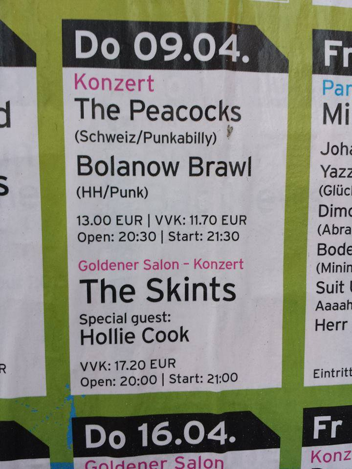 peacocks, the + bolanow brawl @hafenklang, hamburg, 09.04.2015