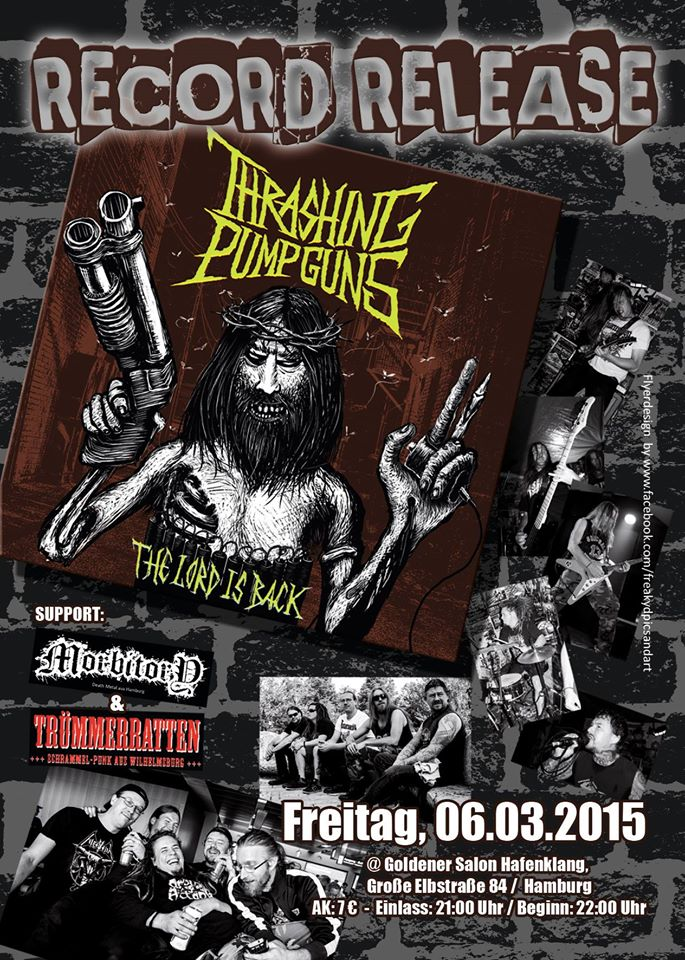 thrashing pumpguns record release party @goldener salon, hamburg, 06.03.2015