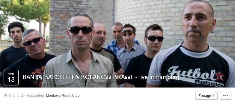 banda bassotti + bolanow brawl @monkeys music club, hamburg, 18.04.2015 1