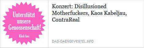 contrareal + disillusioned motherfuckers + kaos kabeljau @gängeviertel, hamburg, 18.06.2015