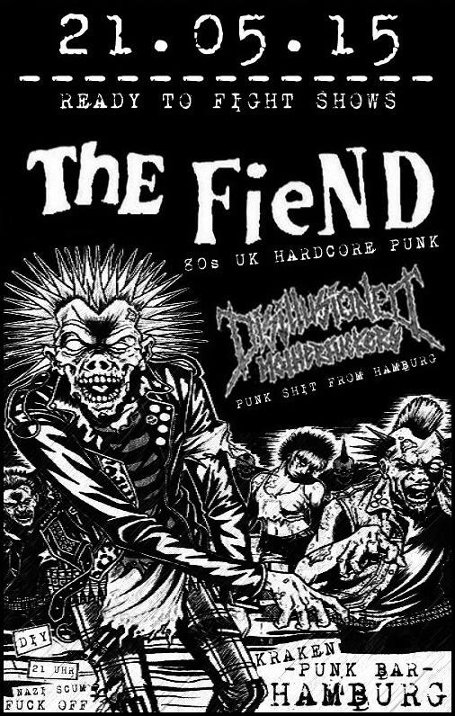fiend, the + disillusioned motherfuckers @kraken, hamburg, 21.05.2015