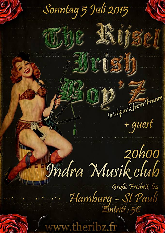 rijsel irish boy'z, the + upper crust @indra, hamburg, 05.07.2015