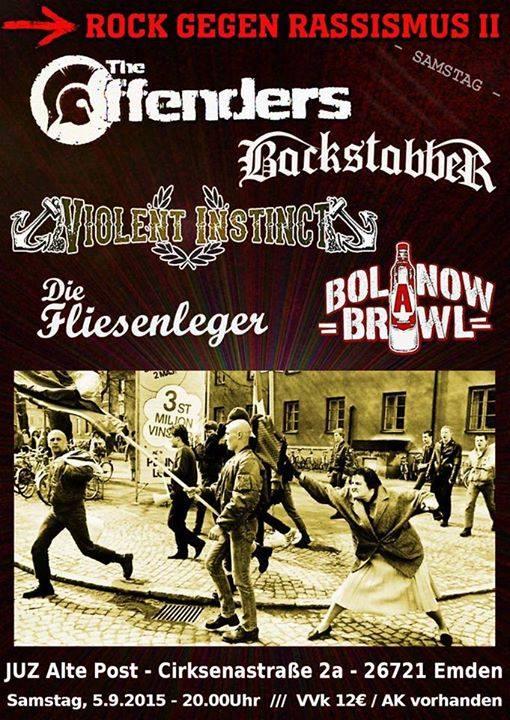 rock gegen rassismus II @juz alte post, emden, 05.09.2015