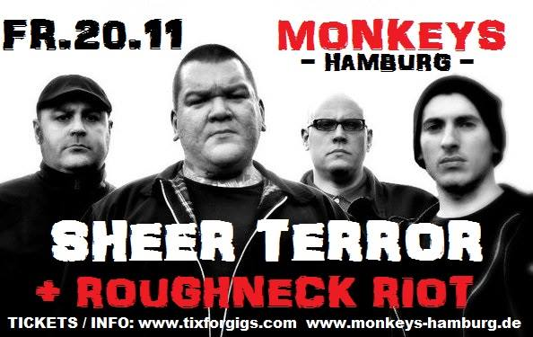 sheer terror + roughneck riot @monkeys, hamburg, 20.11.2015