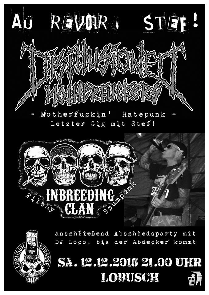 disillusioned motherfuckers + inbreeding clan @lobusch, hamburg, 12.12.2015
