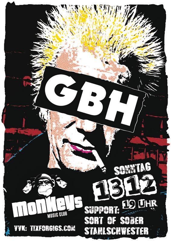g.b.h. + s.o.s. + stahlschwester @monkeys, hamburg, 20151213
