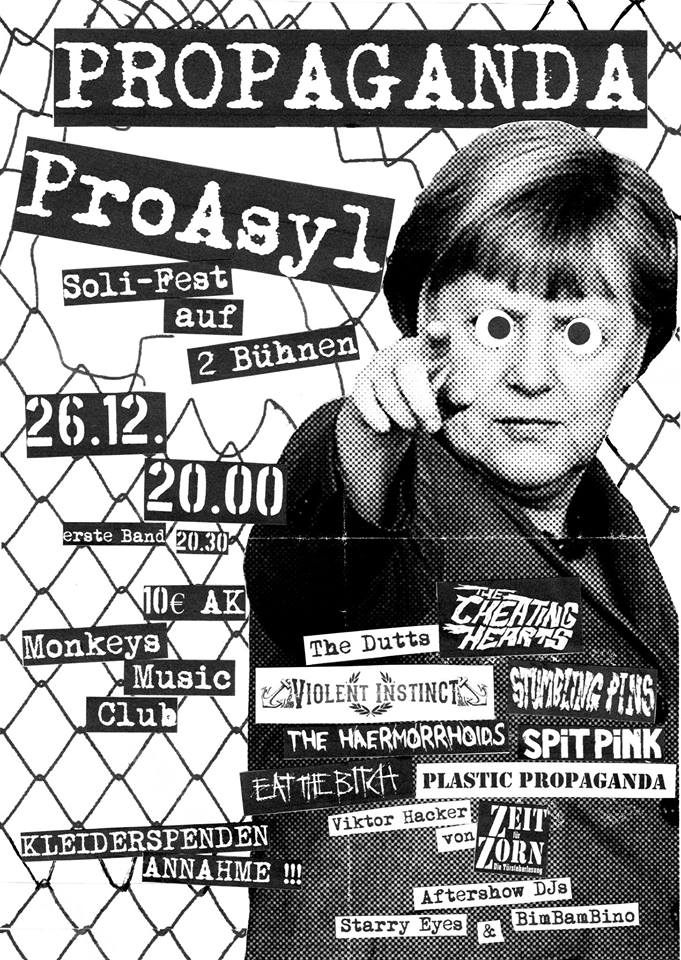 propaganda proasyl @monkeys, hamburg, 20151226