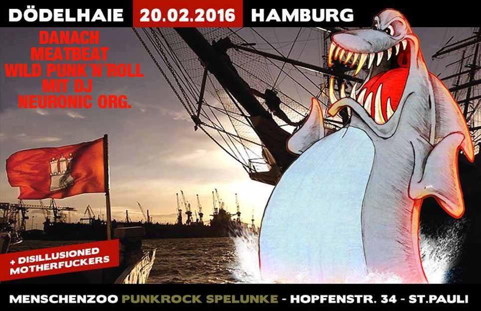 dödelhaie + asimatrix @menschenzoo, hamburg, 20160220