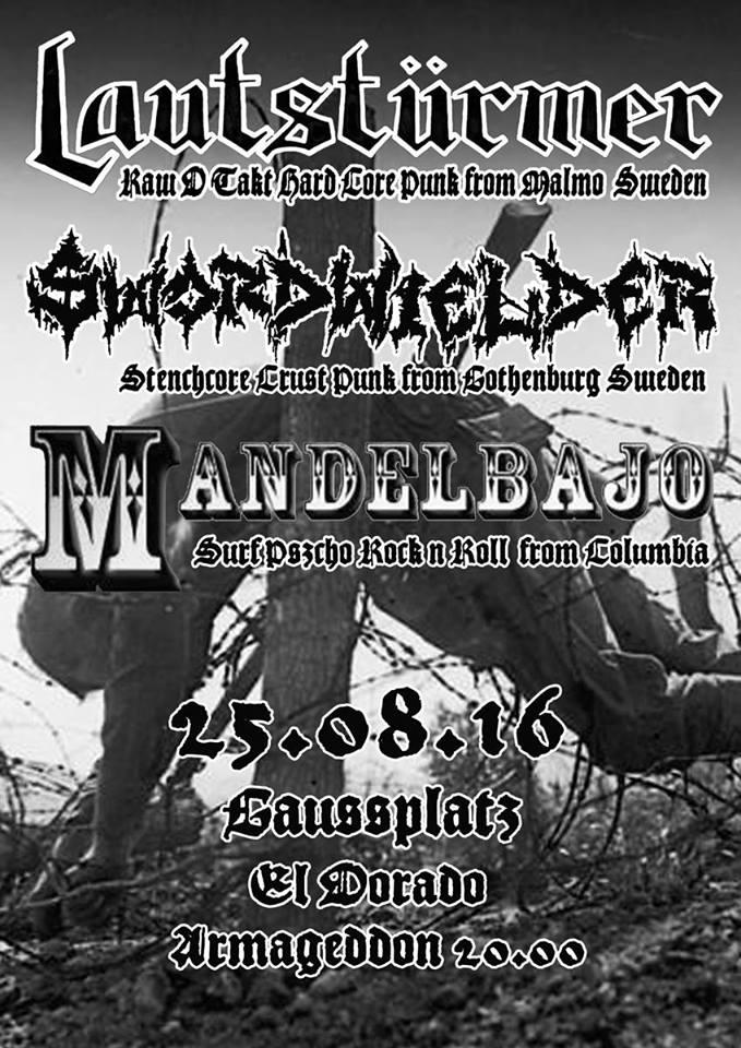 mandelbojo + swordwielder + lautstürmer @el dorado, hamburg, 20160825